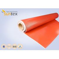 0.7 mm Thickness Silicone Coated Fiberglass Cloth For Fire Curtains And Fire Door