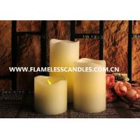 Wholesale Ivory Wax Unscented Amber Flameless Flickering LED Votive Candles for Interior Decoration from china suppliers