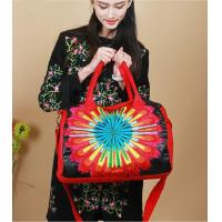 Wholesale Sun flower Handmade shoulder bags Red women messenger bag high grade lady shoulder bags Satin complicated Embroidered from china suppliers