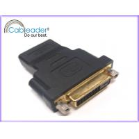 Wholesale 24k gold contac HDMI Female Adapter DVI-D 24 + 1 Female to HDMI 19 pin Female from china suppliers