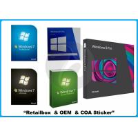 Wholesale 32/64 bit Windows 7 Pro Retail Box Win 7 software WITH COA sticker online activation from china suppliers