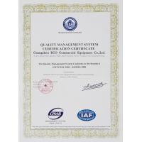 Guangzhou Eco Commercial Equipment Co.,Ltd Certifications