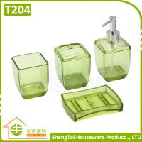Quality Latest Fashion Design Transparent Color Plastic Bathroom Sets For Bathroom Decor for sale