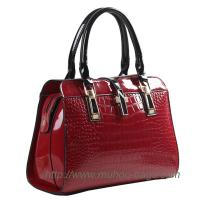 Wholesale Fashion Red Snake PU Leather Ladies handbag for outdoor (MH-6040) from china suppliers