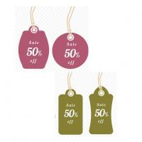 Wholesale Personalized PVC Hang Tags Fashion Pretty Price Tag Small For jewelry / Retail Store from china suppliers