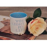Wholesale Votive Cylinder Ceramic Candle Holders Charater Hole Hand Made from china suppliers