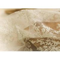 China Delicate 130CM Floral Embroidered Nylon Lace Fabric For Underwear Nightwear on sale