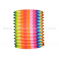Wholesale Striated Design Hanging Paper Candle Lanterns , Unique Cylindrical Paper Lanterns from china suppliers