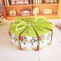 Wholesale Recycled Round Decorated Cake Boxes Unique Pretty Personalized UV Coating Printing from china suppliers