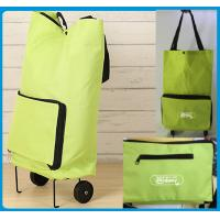Wholesale Lightweight Foldable Shopping Trolley Bag with handles and Plastic wheels - Low Price For Promotional Marketing from china suppliers