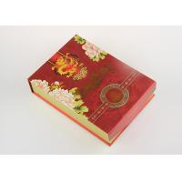 Wholesale Customized Red Recycled Paper Gift Boxes , Eco - Friendly Tea Packaging Box from china suppliers