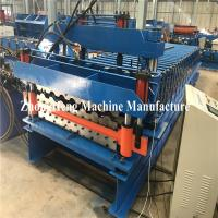 Wholesale Double Deck Glazed Tile Roll Forming Machine With Hydraulic Motor Control 25m/Min from china suppliers