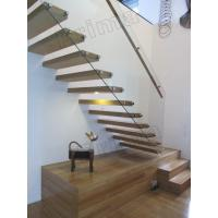 Wholesale stainless steel handrails wood staircase floating stairs from china suppliers