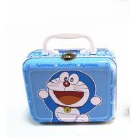 Wholesale Batman Small Plain Lunch Tin Box Rectangular Shaped Blue / Black / White Color from china suppliers