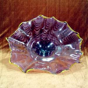Wholesale Handblown art glass platters, handblown glass wall platters , DJ-9008 from china suppliers