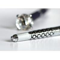 Quality Multi Function Micoblading Pen With Big Diamend Silver / Blue Standby Head Inside for sale