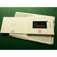 Wholesale Hd Screen Lcd Video Booklet With Smart Button , Matte Lamination Color Cover from china suppliers