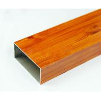 Wholesale Square Wood Finished Aluminum Door Frame Profile For Construction Material from china suppliers