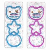 Wholesale Kid's Egg/Pancake Rings/Shapers, Novelty, Made of Silicone, Comes in Heart/Bear/Star Shapes from china suppliers