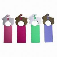 Wholesale Room Door Hangers with Print on Both Sides, Fashionable Shapes, Easy to Clean from china suppliers