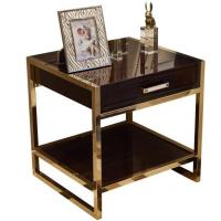Wholesale High end 5-STAR metal frame wooden night stand /bed side table, casegoods,hotel furniture NT-0088 from china suppliers