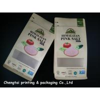 Wholesale Himalayan Salt Paper Pouch Packaging Kraft Paper Pouch With Zip Lock / Block Bottom from china suppliers