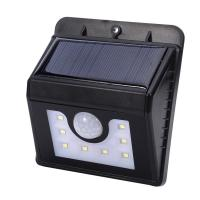 Wholesale Outdoor Wall Light 8 LED Triangular Model Solar Power Waterproof PIR Motion Sensor human induction wall-mounted Wall from china suppliers