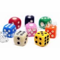 Wholesale Yellow / Red Gamble Cheat Dice 14mm 2 Players With Liquid Mercury from china suppliers