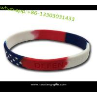 China Promotion customized design embossed or debossed logo silicone wristband on sale