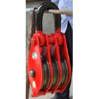 Wholesale Pulley block with hook/ring,Three-Sheave from china suppliers