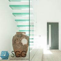 Wholesale clear laminated glass stair treads 6+6mm 8+8mm 10+10mm from china suppliers