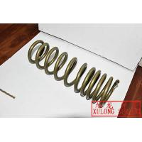 gold powder coated off road vehicle coil springs made by xulong spring factory