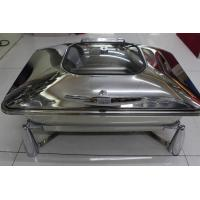 Wholesale Rectangular Stainless Steel Cookwares with Glass Window Mechanical Hinge Lid / Hydraulic Induction Chafing Dish from china suppliers