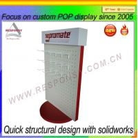 Wholesale Rotating Pegboard Display Stand POP Retail Pegboard Rotating Display Stand from china suppliers