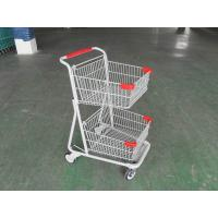 Wholesale Two Basket Grocery Shopping Trolley , Collapsible Retail Shopping Trolleys from china suppliers