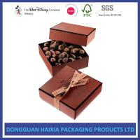 Wholesale Luxury Handmade Foldable Gift Box Compact Size With Ribbon And Greeting Card from china suppliers