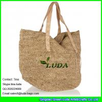 Wholesale LUDA2016 new raffia bag fashion fixed pu shoulders straw beach tote bag from china suppliers