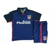 Wholesale Official Kids Soccer Jersey 15-16 Atletico Madrid Brand , Soccer Jersey Kids Set from china suppliers