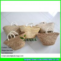 Wholesale LUDA natural seagrass straw beach bag imitated palm leaf straw handbags from china suppliers