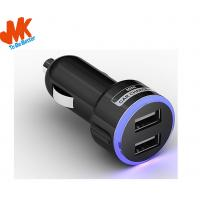 Wholesale 5V 2100MA PC + ABS Mini Dual USB Car charger / Micro Usb Car Chargers from china suppliers