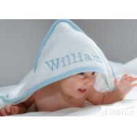 Wholesale Durable White Hooded Baby Towels Embroidered For Family 350gsm from china suppliers