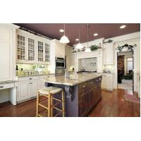 Quality Newest design solid wood kitchen cabinets granite countertop island for sale