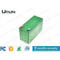 Wholesale High Capacity Solar Energy Storage Battery , 12V Lithium Iron Panasonic Rechargeable Batteries from china suppliers