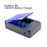 Wholesale Soshine S1 4 slots 18650 Li-ion battery charger, battery charger for li-ion batteries from china suppliers