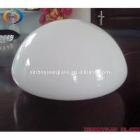 Quality hand blown opal shiny mushroom shape LED glass light shade for sale