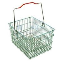 Wholesale OEM Custom Potable Green Steel Wire Woven Supermarket Shopping Carts Basket from china suppliers