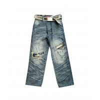 Quality High quality girls jeans children jeans wear for 6 - 16y with Casual hot bead design for sale