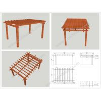 Wholesale WPC prefabricated DIY pergola construction 6M*4M*3M or customized size(OLDA-5015C) from china suppliers
