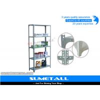 Wholesale Light Weight Slotted Angle Shelving With Bolt And Nuts , Closet Metal Storage Shelves from china suppliers