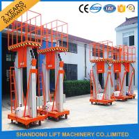 Wholesale 200kg 10m Movable Aerial Work Platform Lift , Hydraulic Safety Work Platform Rental from china suppliers